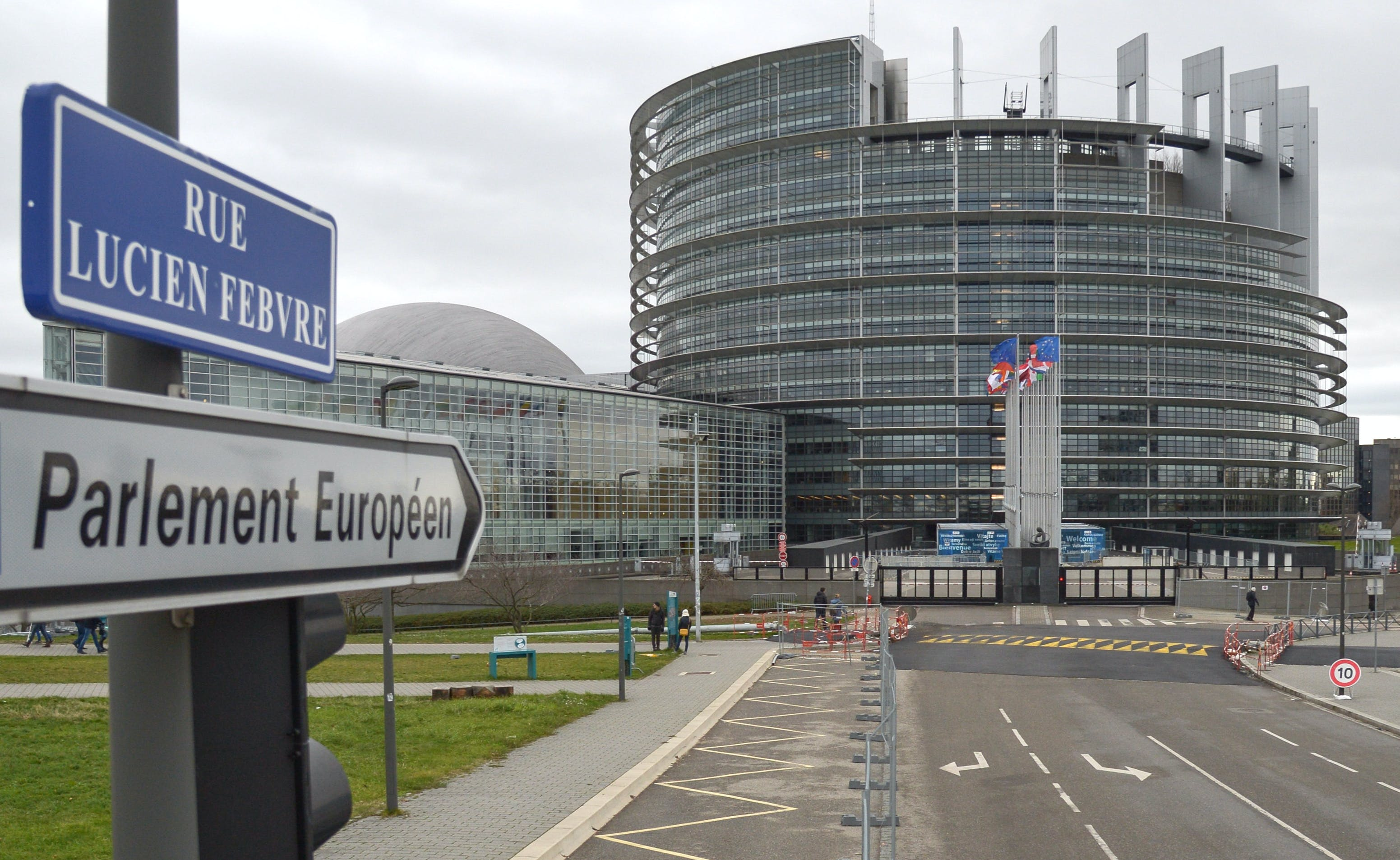 STRASBOURG, FRANCE - FEBRUARY 11, 2018: The building of the European Parliament (EP) as seen from Rue Lucien Febvre Street in the city of Strasbourg. Alexei Vitvitsky/TASS (Photo by Alexei VitvitskyTASS via Getty Images)