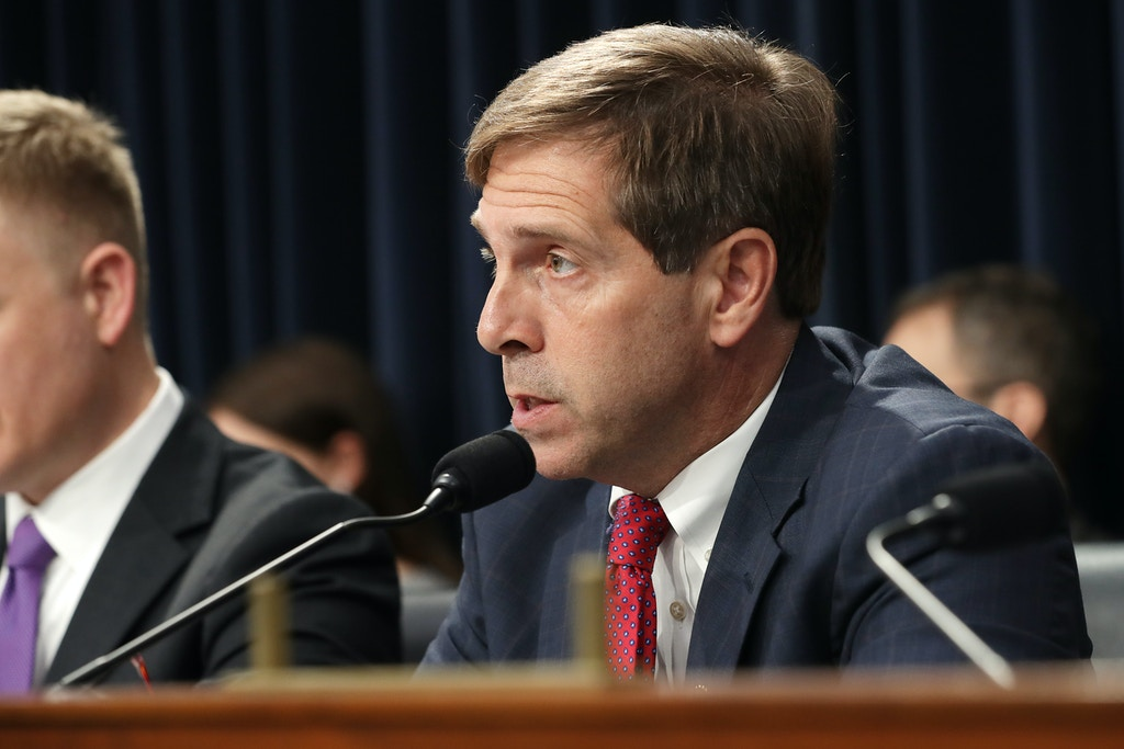 WASHINGTON, DC - JULY 25: The House Appropriations Committee's Homeland Security Subcommittee ranking member Rep. Chuck Fleischmann (R-TN) questions Immigration and Customs Enforcement Acting Director Matt Albence during a hearing in the Rayburn House Office Building on Capitol Hill July 25, 2019 in Washington, DC. Albence testified that the increase in the number of people illegally crossing the U.S.-Mexico border has stretched his agency's budget to the breaking point. (Photo by Chip Somodevilla/Getty Images)