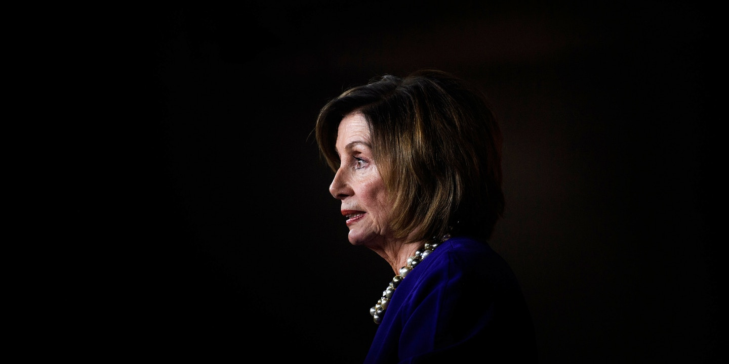 Speaker of the House Nancy Pelosi speaks during a weekly press briefing on Capitol Hill in Washington, D.C., on Feb. 6, 2020. Photo: Brendan Smialowski/AFP via Getty Images