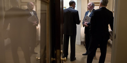 On May 10, 2013, John Brennan presented CIA's response to the Senate Intelligence Committee Torture Report to the President. Official White House Photo by Pete Souza.