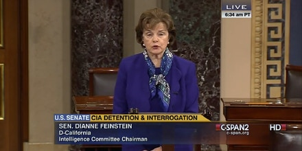Sen. Dianne Feinstein speaking on the Senate Floor on March 11, 2014.