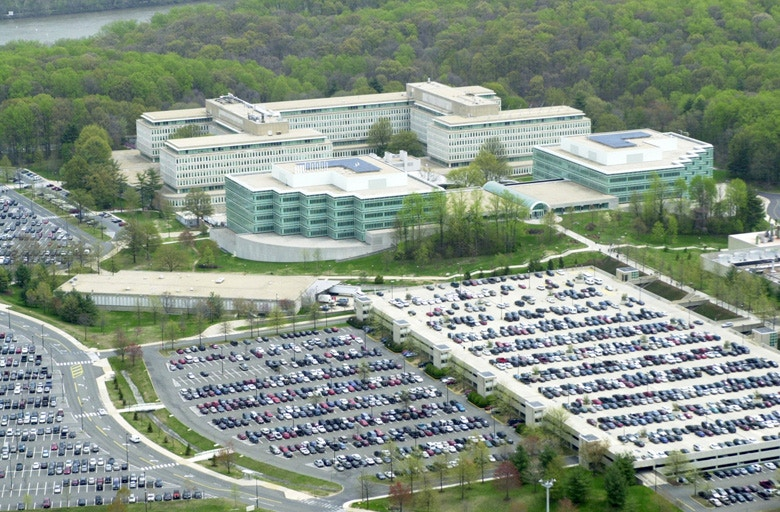 CIA headquarters in Langley, Virginia, 2001.