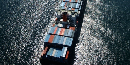 LONG BEACH, CA - OCTOBER 2:  Container ships remain anchored outside of the ports of Los Angeles and Long Beach October 2, 2002 in Long Beach, California.  The ships are among the 70 loaded vessels that cannot bring goods through Los Angeles because of the West Coast lockout of dockworkers by shipping lines. Thirty-one more ships are scheduled to arrive in the coming days to this, the world's third-largest, harbor complex. Hopes that federal mediation would resolve the impasse, which is costing an estimated $1 billion a day, were dashed October 1 after union representatives stormed out of a meeting after shippers showed up with armed security guards.  (Photo by David McNew/Getty Images)