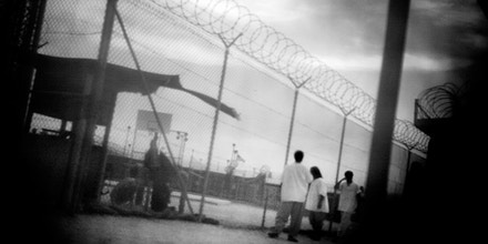Detainees in camp 4. Guantanamo, Cuba. June 2006.