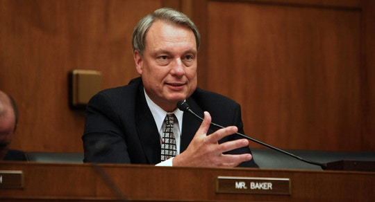 "Representative Richard Baker, a Democrat from Louisiana, asks a question at a House of Representatives Financial Services Committee hearing titled ""Sarbanes-Oxley at Four: Protecting Investors and Strengthening Markets"", in Washington, D.C., September 19, 2006.  Photographer: Dennis Brack/Bloomberg News"