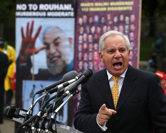 WASHINGTON, DC - NOVEMBER 01:  Former U.S. Sen. Robert Torricelli (D-NJ) participates in a protest of the visit of Iraqi Prime Minister Nouri al-Maliki to the White House, November 1, 2013 in Washington, DC. The Iranian opposition group Mujahedin-eKhalq held the protest to urge U.S. President Barack Obama to cut of aid and arms to Iraq.  (Photo by Mark Wilson/Getty Images)