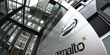 Exterior view of the building housing the head office of Gemalto, which produces