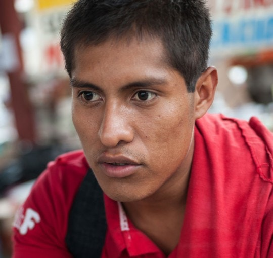 Forty-three male students from the Raul Burgos Rural Teachers College in Ayotzinapa, Guerrero were disappeared on September 26, 2014 at the hands of local police working in conjunction with drug traffickers. As a surviving witness to events of that evening, Ernesto Guerrero Cano, 23, a first-year student, was on one of the buses that students had commandeered for later transportation needs and that was targeted by deadly police automatic weapons fire.