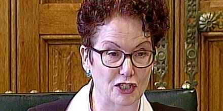 "Intelligence and Security Committee report. Hazel Blears MP reports on the Intelligence and Security Committee of Parliament (ISC) report into Privacy and Security in the House of Commons, London. Picture date: Thursday March 12, 2015. Thousands of private communications are read by GCHQ spies every day through bulk interception methods, the long awaited report sparked by the Edward Snowden revelations has revealed. In its paper on privacy and security, the committee said that analysts at the Government listening post collect ""large numbers of items"" but adds they have all been ""targeted in some way"". See PA story POLITICS Spying. Photo credit should read: PA Wire URN:22477526 (Press Association/AP)"