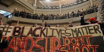 Demonstrators filled the Mall of America rotunda and chanted