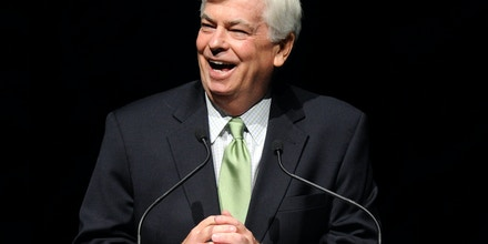 LAS VEGAS, NV - MARCH 29:  Former U.S. Sen. and new Chairman and CEO of the Motion Picture Association of America Chris Dodd speaks at The Colosseum at Caesars Palace during CinemaCon, the official convention of the National Association of Theatre Owners, March 29, 2011 in Las Vegas, Nevada.  (Photo by Ethan Miller/Getty Images)
