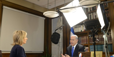JERUSALEM, ISRAEL - MARCH 19:  (ISRAEL OUT) In this handout provided by the Israeli Government Press Office, Israel Prime Minister Benjamin Netanyahu is interviewed for NBC news on March 19, 2015 in Jerusalem, Israel.   (Photo by Amos Ben Gershom/GPO via Getty Images)