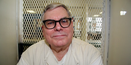 File - In this Jan. 7, 2015, file photo, Texas death row inmate Lester Bower is photographed in an interview cage at the visiting area of the Texas Department of Criminal Justice Polunsky Unit near Livingston, Texas. Bower, set to be executed June 3, 2015, for fatally shooting four men at an airplane hangar. Texas prison officials say they've obtained a new supply of drugs that will allow them to carry out the two executions currently scheduled. (AP Photo/Michael Graczyk, File)