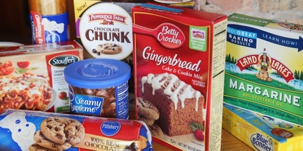 CHICAGO, IL - NOVEMBER 07: Food items which contain trans fat are shown on November 7, 2013 in Chicago, Illinois. The U.S. Food and Drug Administration today proposed a rule change that would eliminate trans fat from all processed foods.  (Photo Illustration by Scott Olson/Getty Images)