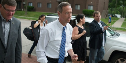 IOWA CITY, IA - JUNE 11:  Democratic presidential hopeful and former Maryland Gov. Martin O'Malley arrives for a campaign event at the Sanctuary Pub on June 11, 2015 in Iowa City, Iowa. This is O'Malley's second visit to Iowa since the launch of his presidential campaign last month.  (Photo by Scott Olson/Getty Images)