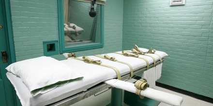 FILE - This May 27, 2008 file photo shows the gurney in Huntsville, Texas, where Texas' condemned are strapped down to receive a lethal dose of drugs. Texas prison officials say they've secured a new supply of pentobarbital that will allow the nation's most active death penalty state to continue executions. Texas Department of Criminal Justice spokesman Jason Clark also said the prison agency is not identifying the source of the new drug inventory because of threats made against previous suppliers when they were identified as a provider of lethal injection drugs.  (AP Photo/Pat Sullivan, File)