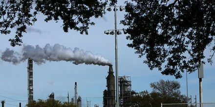 HOUSTON, TX - MARCH 25:  An oil refinery is shown on March 25, 2015 in Houston, Texas. Texas, which in just the last five years has tripled its oil production and delivered hundreds of billions of dollars into the economy, is looking at what could be a sustained downturn in prices. Crude oil prices today are almost 60 percent lower than they were six months ago. While the Texas economy has become more diversified over the years, oil is still the states largest monetary generator and any sustained downturn would be devastating for employment and the economy. Outplacement firm Challenger, Gray & Christmas this month said a drop in oil prices have been responsible for 39,621 job cuts in the first two months of the year.  (Photo by Spencer Platt/Getty Images)