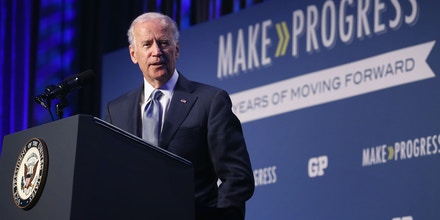 WASHINGTON, DC - JULY 16:  U.S. Vice President Joe Biden addresses the 10th annual Make Progress National Summit at the Walter E. Washington Convention Center July 16, 2015 in Washington, DC.  Hundreds of youth leaders, student activists, and organizers gather for the convention which is organized by Generation Progress, the youth engagement arm of the liberal think tank Center for American Progress.  (Photo by Chip Somodevilla/Getty Images)