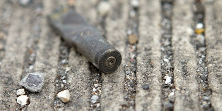 Image #: 1674452    A .223 caliber shell casing lies alongside the road on Danziger Bridge in eastern New Orleans, Louisiana November 10, 2005. An incident in which New Orleans police killed two suspected snipers accused of firing at officers in the chaos following Hurricane Katrina will be reviewed by prosecutors, the district attorney said on Thursday. Police confronted a group of seven people, including a 17-year-old girl, on Danziger Bridge on the morning of September 4, 2005. Six were shot by police, two fatally.  REUTERS/Lucas Jackson /Landov