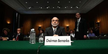 WASHINGTON - APRIL 14:  Federal Reserve Board Chairman Ben Bernanke testifies before the Joint Economic Committee April 14, 2010 in Washington, DC. Bernanke testified before the full committee on the topic of