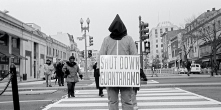 USA. Washington D.C. January 21, 2009. A protestor during an