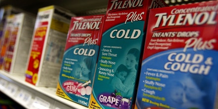 NEW YORK - OCTOBER 11:  Johnson & Johnson, infants? nonprescription cough and cold products are displayed on a shelf at a pharmacy October 11, 2007 in the Brooklyn borough, of New York City. The Consumer Healthcare Products Association announced Thursday that Johnson & Johnson, Wyeth and other manufactures of infants? nonprescription cough and cold products are recalling some medicines in the United States because of the potential danger of overdose.  (Photo by Spencer Platt/Getty Images)