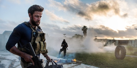 John Krasinski plays Jack Silva in 13 Hours: The Secret Soldiers of Benghazi from Paramount Pictures and 3 Arts Entertainment / Bay Films in theatres January 15, 2016.