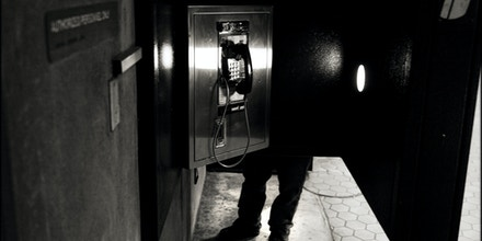 WASHINGTON, DC - DECEMBER 8: The phone booth at Judiciary Square Metro station, December 8, 2008 in Washington, DC. The phone was used by NSA whistleblower Thomas Tamm. (Photo by Charles Ommanney/Getty Images)
