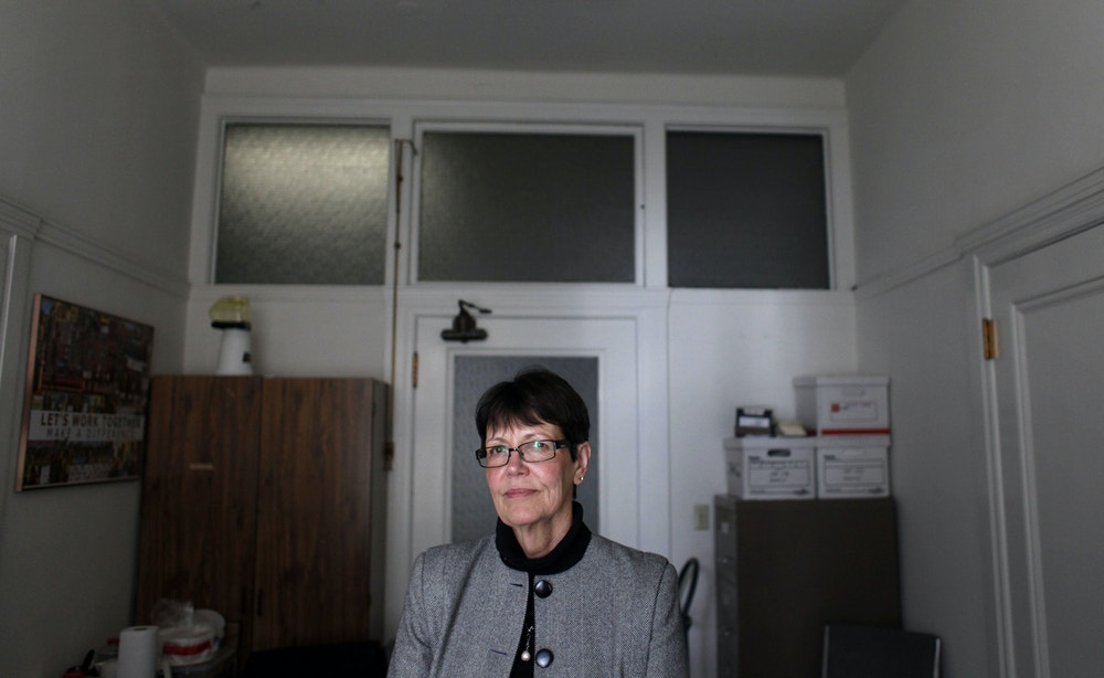 Jeanne Woodford, former San Quentin Warden an now Executive Director of Death Penalty Focus, a national non-profit organization dedicated to educating the public about the death penalty and its alternatives,  stands for a portrait in her new offices on Market Street on May 27, 2011 in San Francisco, Calif. She says overseeing four executions convinced her that putting people to death is not right.