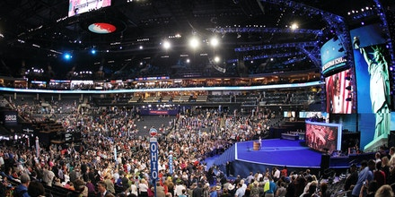 CHARLOTTE, NC - SEPTEMBER 04:  Democratic National Committee Chair, U.S. Rep. Debbie Wasserman Schultz (D-FL) speaks on stage after calling the convention to order during day one of the Democratic National Convention at Time Warner Cable Arena on September 4, 2012 in Charlotte, North Carolina. The DNC that will run through September 7, will nominate U.S. President Barack Obama as the Democratic presidential candidate.  (Photo by Streeter Lecka/Getty Images)