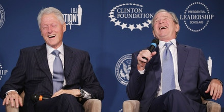 President Clinton And President George W. Bush Launch Presidential Leadership Scholars Program on September 8, 2014 in Washington, DC.