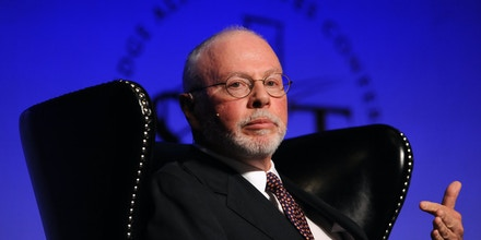 Paul Singer, founder and president of Elliott Management Corp., speaks during the SkyBridge Alternatives (SALT) conference in Las Vegas, Nevada, U.S., on Wednesday, May 9, 2012. Singer said he's betting the price of 30-year sovereign debt in the U.S., Europe and Japan will fall. Photographer: Jacob Kepler/Bloomberg via Getty Images