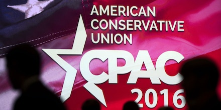 People attend the annual Conservative Political Action Conference (CPAC) 2016 at National Harbor in Oxon Hill, Maryland, outside Washington, March 3, 2016.Republican activists, organizers and voters gather for the Conservative Political Action Conference at a critical moment for the Republican Party as Donald Trump marches towards the presidential nomination and GOP stalwarts consider whether -- or how -- to stop him. / AFP / SAUL LOEB (Photo credit should read SAUL LOEB/AFP/Getty Images)