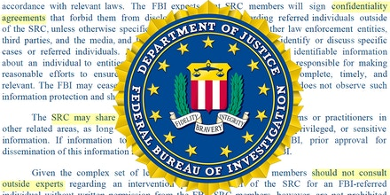 FBI seal with screen grab of SRC letter