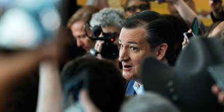 NEW YORK, NEW YORK - APRIL 06: Republican presidential candidate Ted Cruz speaks to the media at the restaurant Sabrosura 2 on April 6, 2016 in the Bronx borough of New York City. Cruz, who won last night's Wisconsin primary, was visiting New York in advance of New York's Republican primary on April 19, 2016. (Photo by Bryan Thomas/Getty Images)