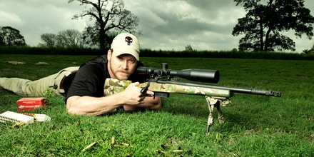 Former Navy SEAL and expert sniper, Chris Kyle, is photographed on his ranch for Paris Match magazine on April 2, 2012 in Dallas, Texas. Published image (Photo by Sebastien Micke/Contour by Getty Images)