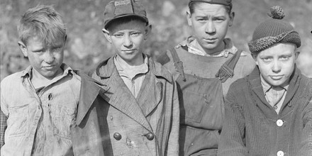 In 1937, photographer and sociologist Lewis Hine took this photo of child miners in Scotts Run, West Virginia.