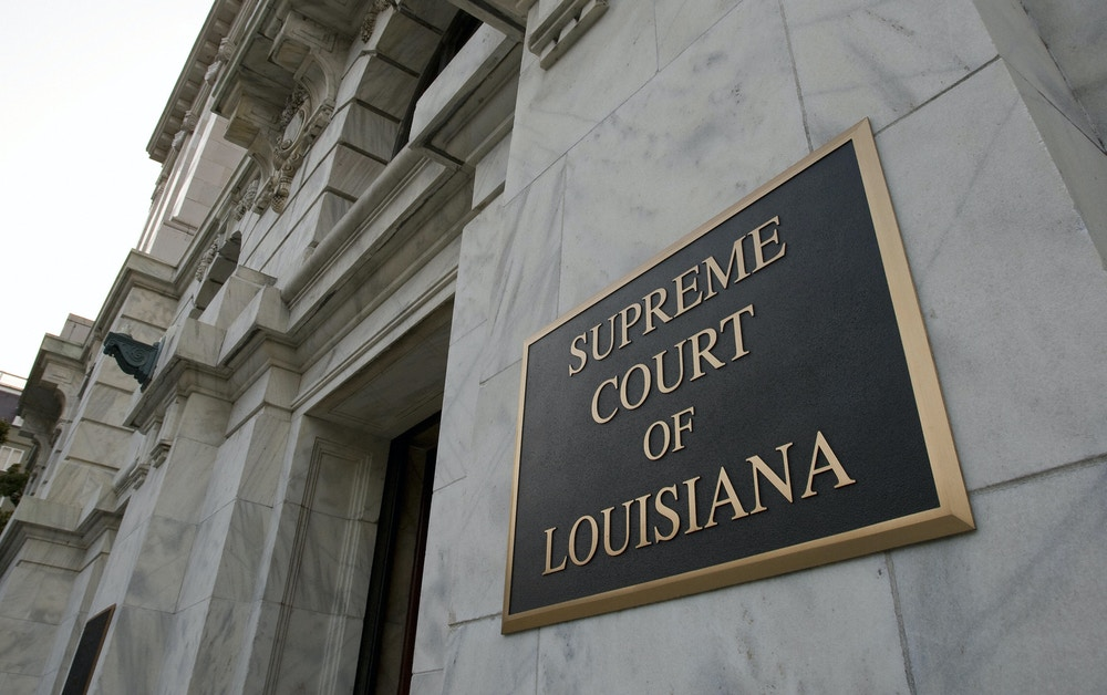 The exterior of the Supreme Court of Louisiana 24 August 2007 in New Orleans. AFP Photo/Paul J. Richards (Photo credit should read PAUL J. RICHARDS/AFP/Getty Images)