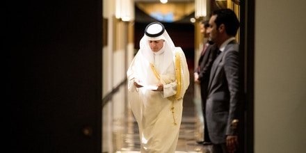 Saudi Arabia Foreign Minister Adel al-Jubeir arrives for a news conference at the Saudi Arabian Embassy in Washington, Friday, July 15, 2016, after the U.S. released once-top secret pages from a congressional report into 9/11 that questioned whether Saudis who were in contact with the hijackers after they arrived in the U.S. knew what they were planning. (AP Photo/Andrew Harnik)
