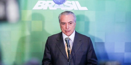 SAO PAULO, BRAZIL - JULY 04:  President of Brazil, Michel Temer, talks during the opening of the Global Agribusiness Forum GAF16 at the Hotel Grand Hyatt, in Sao Paulo, Brazil on July 04, 2016. (Photo by Vanessa Carvalho/Brazil Photo Press/LatinContent/Getty Images)