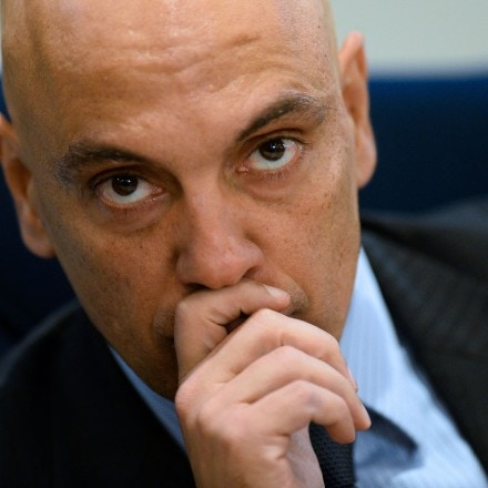 Brazilian Justice Minister Alexandre de Moraes attends the inauguratioon ceremony of International Police Cooperation Center (CCPI) in Brasilia, on August 1, 2016.<br /><br /><br /><br /><br /><br /> The centre will work during the Olympic and Paralympic Games in Rio de Janeiro, which will take place from August 5-21 and September 7-18 respectively..  / AFP / ANDRESSA ANHOLETE        (Photo credit should read ANDRESSA ANHOLETE/AFP/Getty Images)