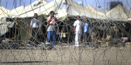 Prisoners at Abu Ghraib prison, July 15, 2004