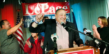 Gov. Paul LePage after winning a second term Nov. 4, 2014, in Lewiston, Maine.