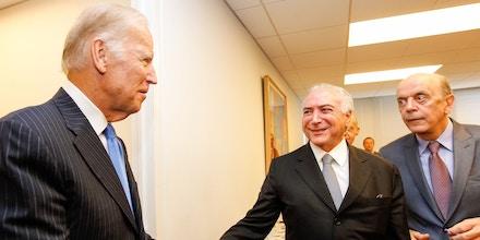 Nova Iorque(EUA) - Presidente Michel Temer durante encontro com o Vice-Presidente dos Estados Unidos, Joe Biden (Beto Barata/PR)
