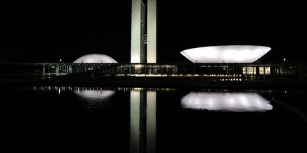 View of the Congress in Brasilia on September 5, 2013, two-day before Independence Day military parade which will be attended by Brazilian President Dilma Rousseff . Authorities tightened security with 4000 police officers, after social organizations and union workers call for a large demonstration against corruption. AFP PHOTO/VANDERLEI ALMEIDA        (Photo credit should read VANDERLEI ALMEIDA/AFP/Getty Images)