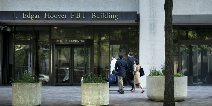 A view of the J. Edgar Hoover Building, the headquarters for the Federal Bureau of Investigation (FBI), on May 3, 2013 in Washington, DC. The FBI announcement that it will move its headquarters has sparked fierce competion in the Washington DC area with bordering states Maryland and Virginia competing to have the FBI find a new home in their jurisdictions.     AFP PHOTO/Brendan SMIALOWSKI        (Photo credit should read BRENDAN SMIALOWSKI/AFP/Getty Images)
