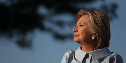 HAMPTON, IL - SEPTEMBER 05:  Democratic presidential nominee Hillary Clinton looks on at the 49th annual Salute to Labor on September 5, 2016 in Hampton, Illinois. Clinton is kicking off a Labor Day campaign swing to Ohio and Iowa on a new campaign plane.  (Photo by Justin Sullivan/Getty Images)