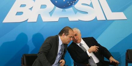 Brasília - O ministro da Saúde, Ricardo Barros e o presidente da República, Michel Temer anunciam, no Palácio do Planalto, ações de gestão na saúde pública (Antonio Cruz/Agência Brasil)