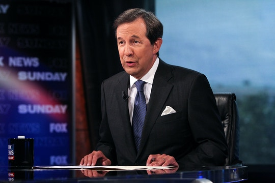 "WASHINGTON, DC - JULY 27:  Chris Wallace takes part in an interview with U.S. Supreme Court Justice Antonin Scalia on  ""FOX News Sunday"" at the FOX News D.C. Bureau on July 27, 2012 in Washington, DC.  (Photo by Paul Morigi/Getty Images)"