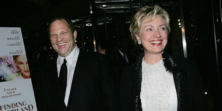 NEW YORK - OCTOBER 25: Producer Harvey Weinstein and Senator Hillary Clinton (D-NY) attend the